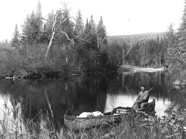 Maliseet guide on the Tobique River